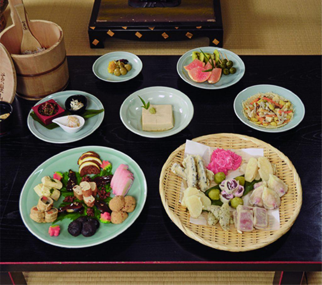 "Mampuku-ji Temple""Zazen experience""and""Fucha cuisine"" (Buddhist cuisine.)"