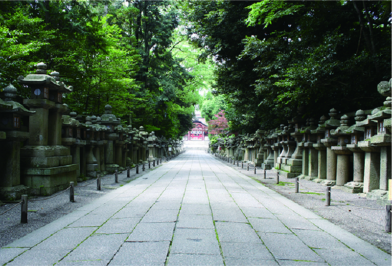 Approach to a main shrine
